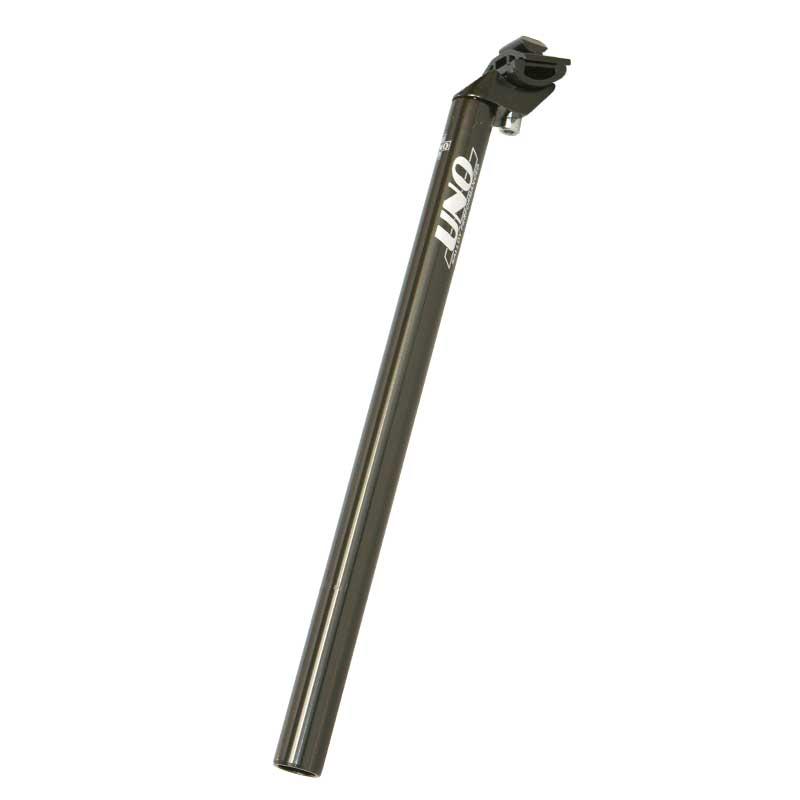 Sedlovka 31,8/400 mm Al, UNO se zámkem černá