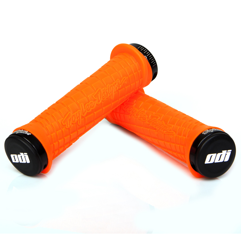 Gripy MTB ODI Troy Lee Designs Lock-On bonus pack oranžové