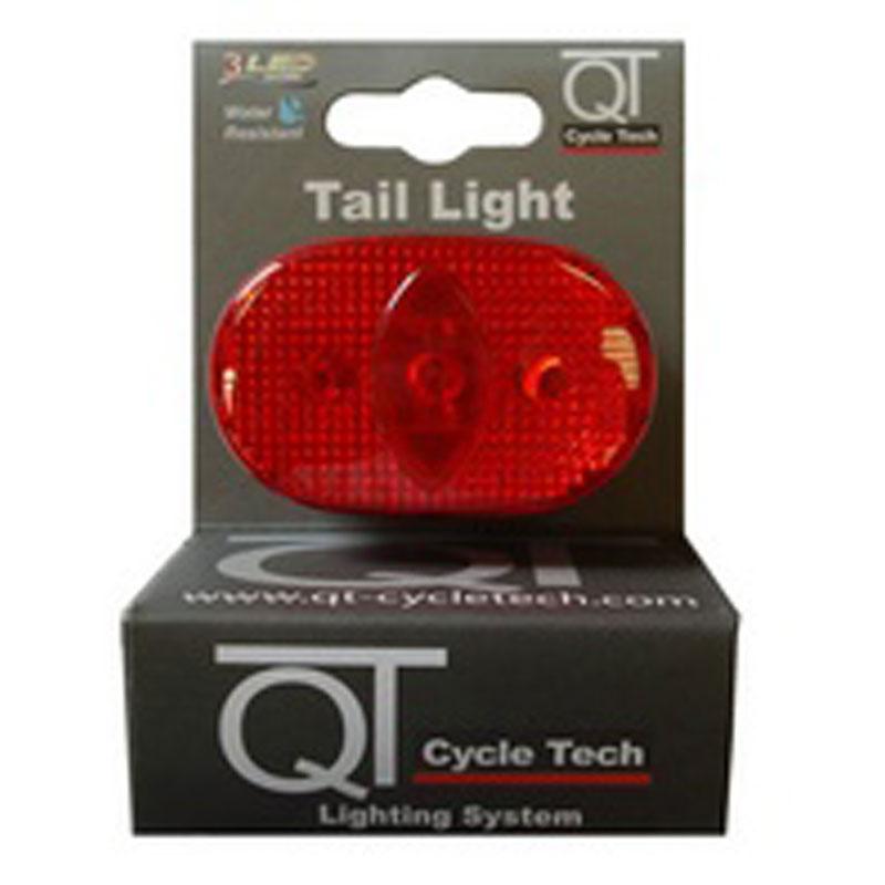 Světlo blikací zadní QT Cycle Tech 3-diody, červené
