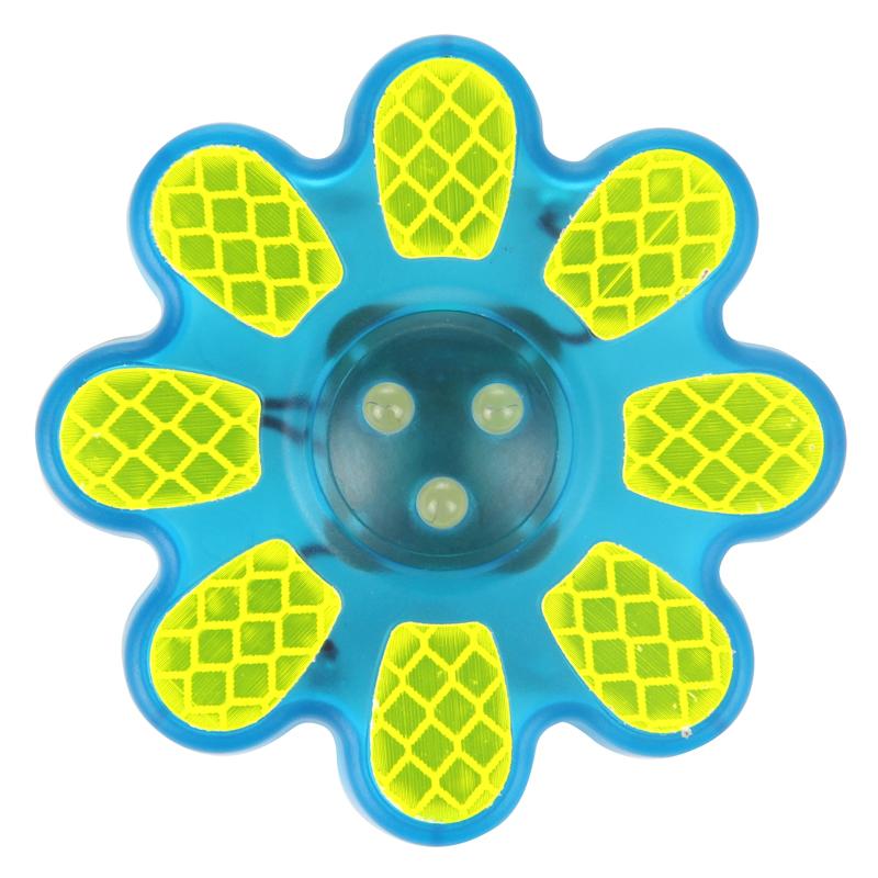 Světlo blikací přední WOWOW - FLOWER tyrkysové 3 x LED
