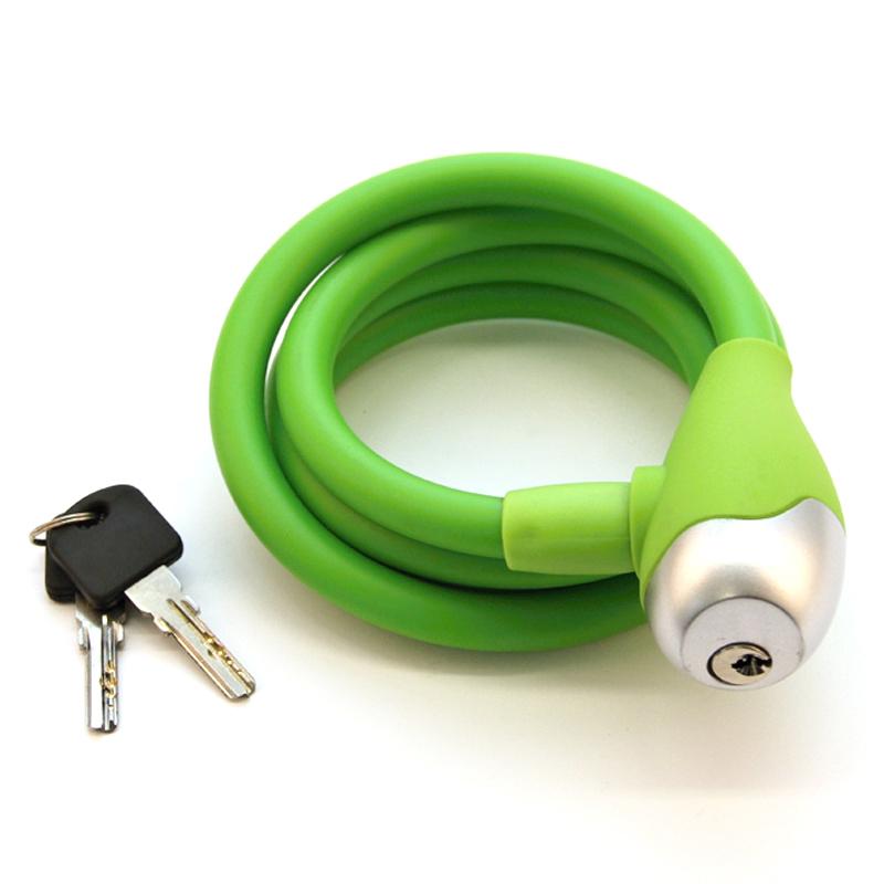 Zámek 1200/ 12 spirála QT Cycle Tech silikon zelený