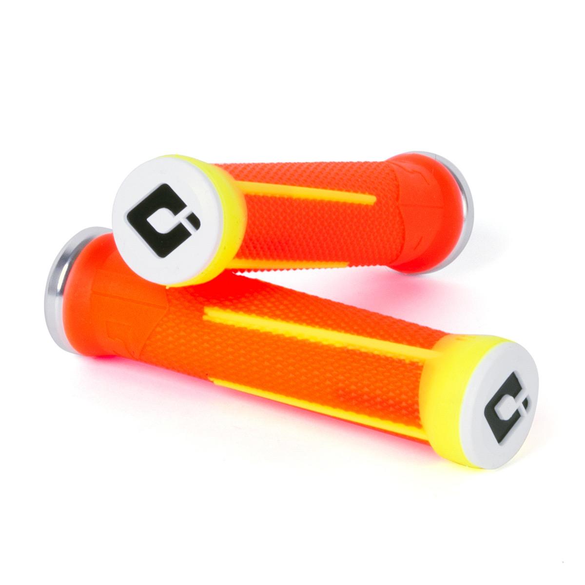 Gripy MTB ODI AG-1 Signature V2.1 Lock-On Bonus Pack oranžová / žlutá