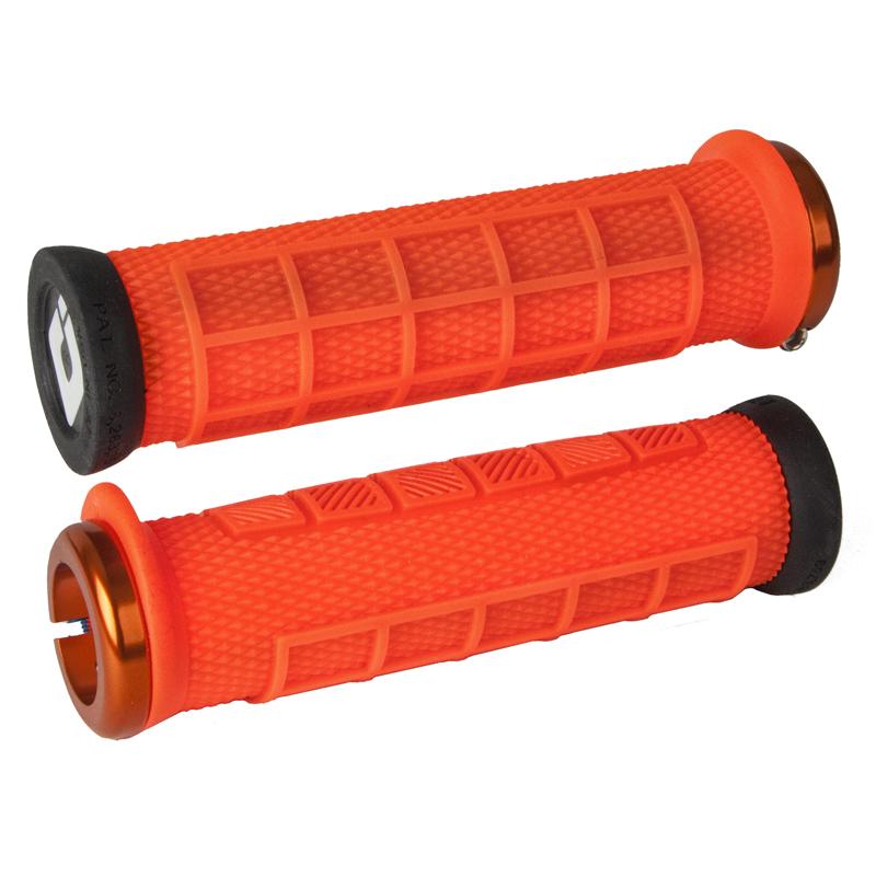 Gripy MTB ODI Elite Pro Lock-On oranžová
