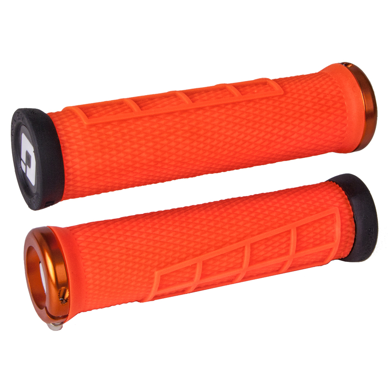 Gripy MTB ODI Elite Flow Lock-On oranžová