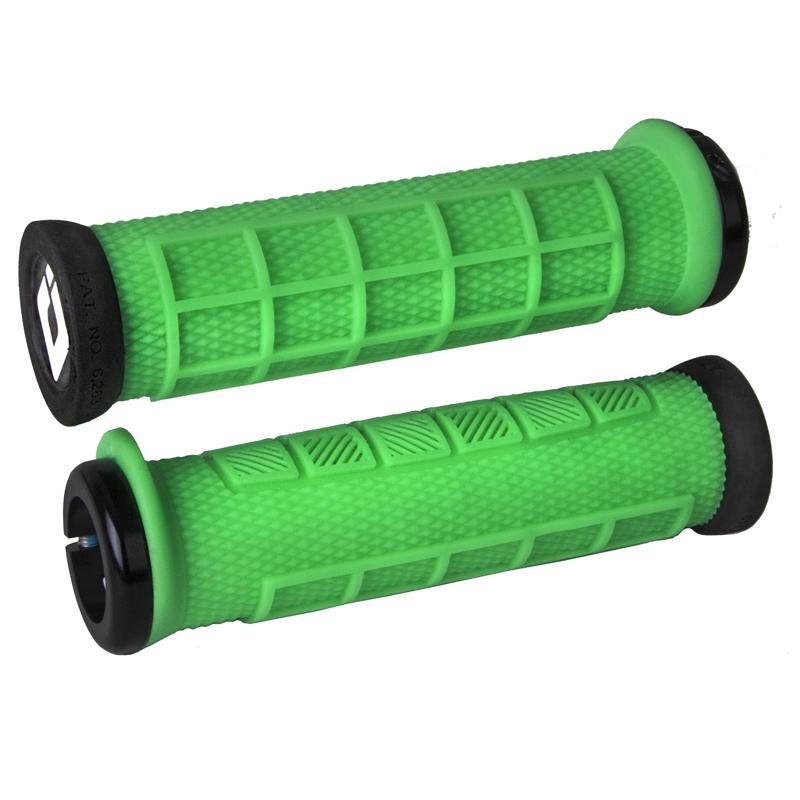 Gripy MTB ODI Elite Pro Lock-On zelená