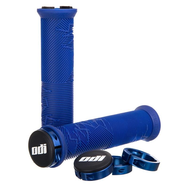 Gripy MTB ODI Disisdaboss Lock-On bonus pack modré