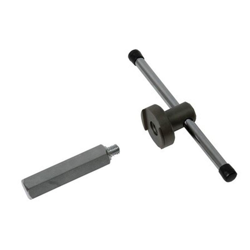 Klíč na misky s ploškou rozteč 36 mm s upevňovacím trnem a vratidlem