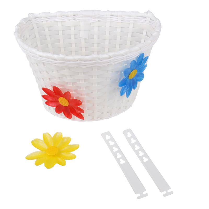 Koš na řidítka dětský plastový splétaný
