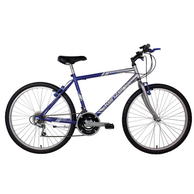 "Kolo MTB Kenzel COMPACT G 19''  stříbrná/modrá, 19"""