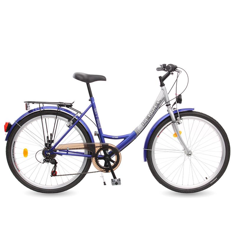 "Kolo CITY Kenzel CTB C300 modrá/stříbrná, 26"""